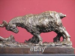 Signed Bronze Statue Art Deco Nude Highly Detailed Sculpture On Marble Base