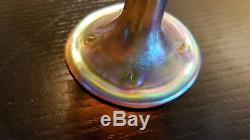 Signed LCT, Tiffany Favrile Art Glass Wine Glass Mint Cond. 31/2 inches High