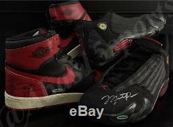 Signed Original 1985 Nike Air Jordan 1 High Rookie & Last Shot XIV Autograph Uda
