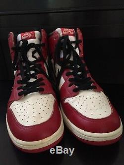 Signed Original 1985 Nike Air Michael Jordan 1 High Rookie Shoes Uda Autograph I