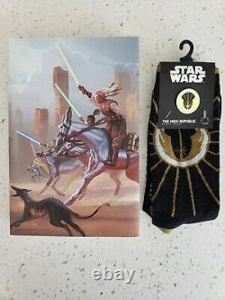 Star Wars Light of the Jedi High Republic Signed Soule Limited OOP + socks +pin