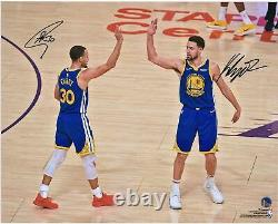 Stephen Curry & Klay Thompson GS Warriors Signed 16 x 20 High Five Photo