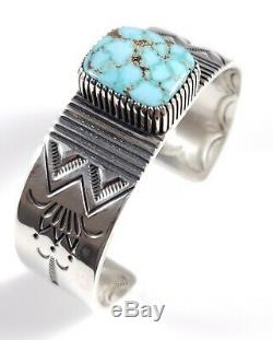 Sterling Silver Navajo Turquoise Bracelet Rare High Grade Royston By Ned Nez