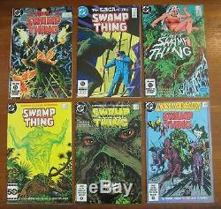 Swamp Thing Alan Moore comic lot #s 20 21 signed 25 37 49 50 thru 64 high grade