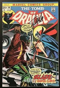 TOMB OF DRACULA #10 (1973) Signed By Stan Lee! 1st App Blade High Grade! NM