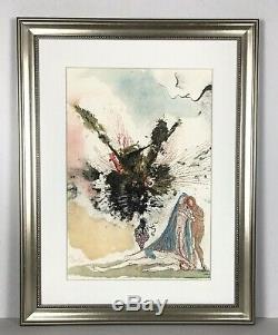 TWO Salvador Dali 1967 Lithographs Original Biblia SIGNED Framed COA HIGH VALUE