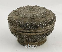 Thai Antique Silver Betel box High quality Signed c1900 Siam Thailand 86 gr