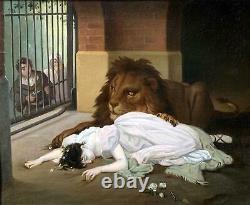 The Lion's Bride -High Quality Vintage Painting after Gabriel von Max