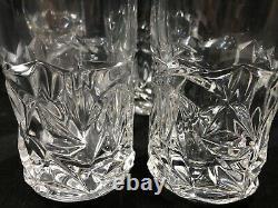 Tiffany & Co Lead Crystal Rock-Cut High Ball Glasses Set of Four 6.5 Tall