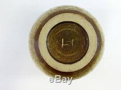 Toshiko Takaezu High Glaze Beige Vase Studio Art Pottery Signed Base 5.75 Inches