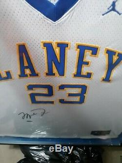 Uda Michael Jordan Autographed Authentic Laney High School Game Jersey