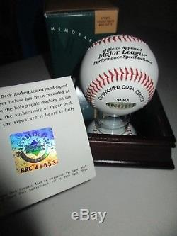 Uda Michael Jordan Signed Baseball Case Box Bag Coa Snow White High Grade Auto