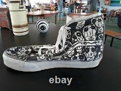 Vans size 66 high top shoe display original signed artwork