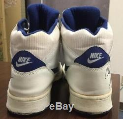 Vintage 1989 Nike High Top Sneakers Sz 12 Signed Clyde Drexler Williams Nba Og