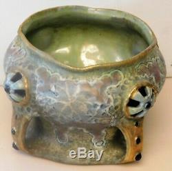 Vintage Amphora jeweled signed vase 6 diameter, 4 high