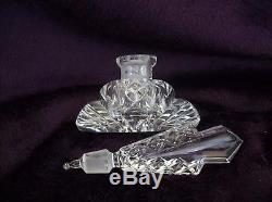 Vintage Czech Perfume BottleDauber IntactSigned3.25 TallHighly Collectible