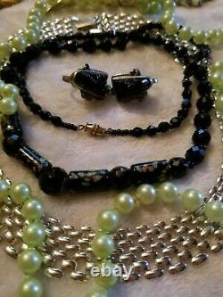 Vintage High End Big Jewelry Lot Some Signed Monet Emmons Cerrito Coro++