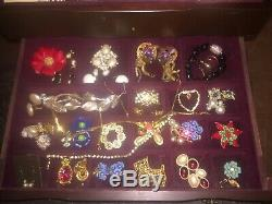 Vintage High End Rhinestone & Costume Jewelry Lot 80+ Pieces Many Signed