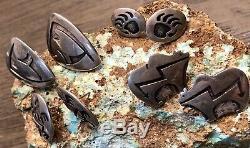 Vintage Hopi Bernard Dawahoya Lot 4 Pairs Of Earrings Rare & Highly Collectible