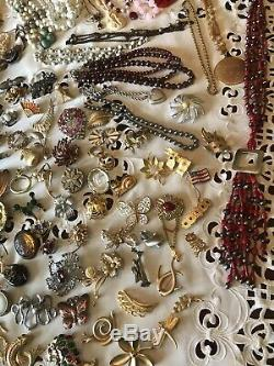 Vintage Jewelry Lot, High End, Designer Signed, Gold, Silver, Over 200 Pieces