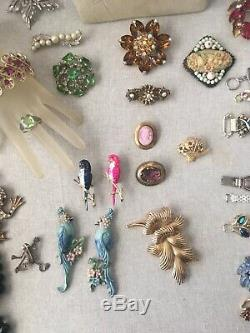Vintage Lot Designer Signed And High End Costume Jewelry Miriam Haskell Weiss &+