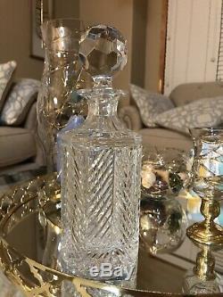 Vintage RALPH LAUREN Crystal Decanter Large Size Rare 10 High 3.5 Wide Signed
