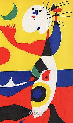 Vivid 1938 JOAN MIRO Original Color Lithograph Summer FRAMED HIGH VALUE COA