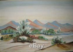 Vtg Carlo of Hollywood Painting Oil on Board Spring Time in the High Desert 51