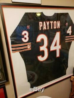 Walter Payton Autographed and Framed Jersey (39High x 37 Wide)