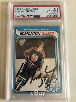 Wayne Gretzky 1979 OPC Rookie 1st Print Signed Autographed #18 PSA 4 High End