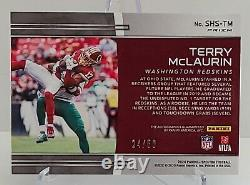 WfT Terry McLaurin Spectra Neon Blue Sky High 24 of 50 on-card auto