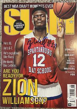 Zion Williamson Autographed Signed High School Slam Magazine #12 Rare! JSA