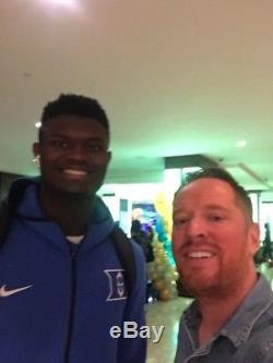 Zion Williamson Signed Rare High School Duke Blue Devils 11x14 Photo Proof & Coa